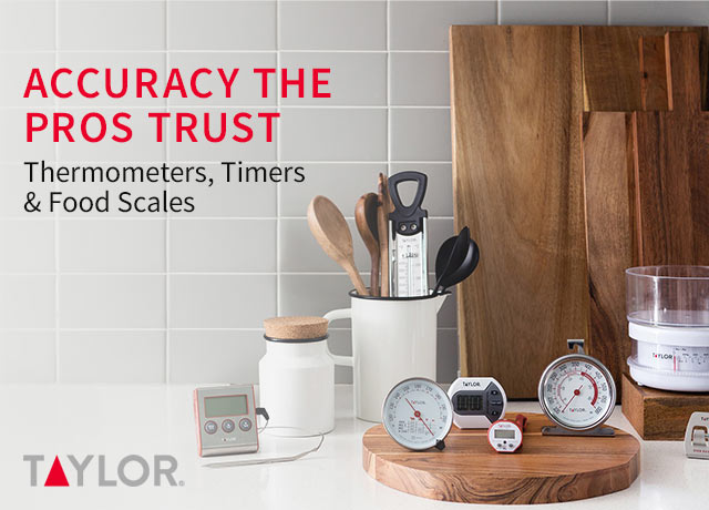 Taylor Thermometers, Timers, and Food Scales