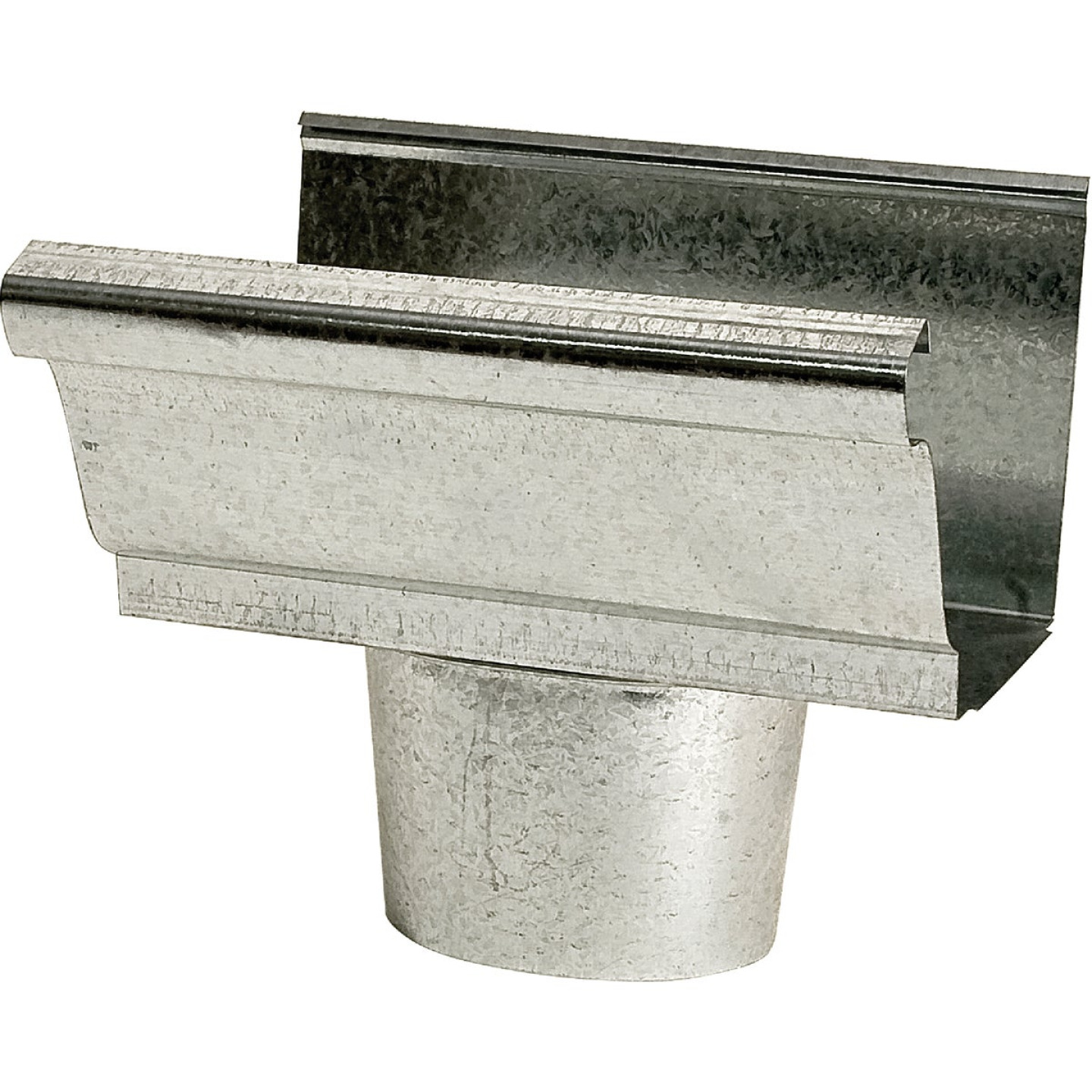 NorWesco 4 In. K Style Steel Oval Gutter Drop Outlet Image 1