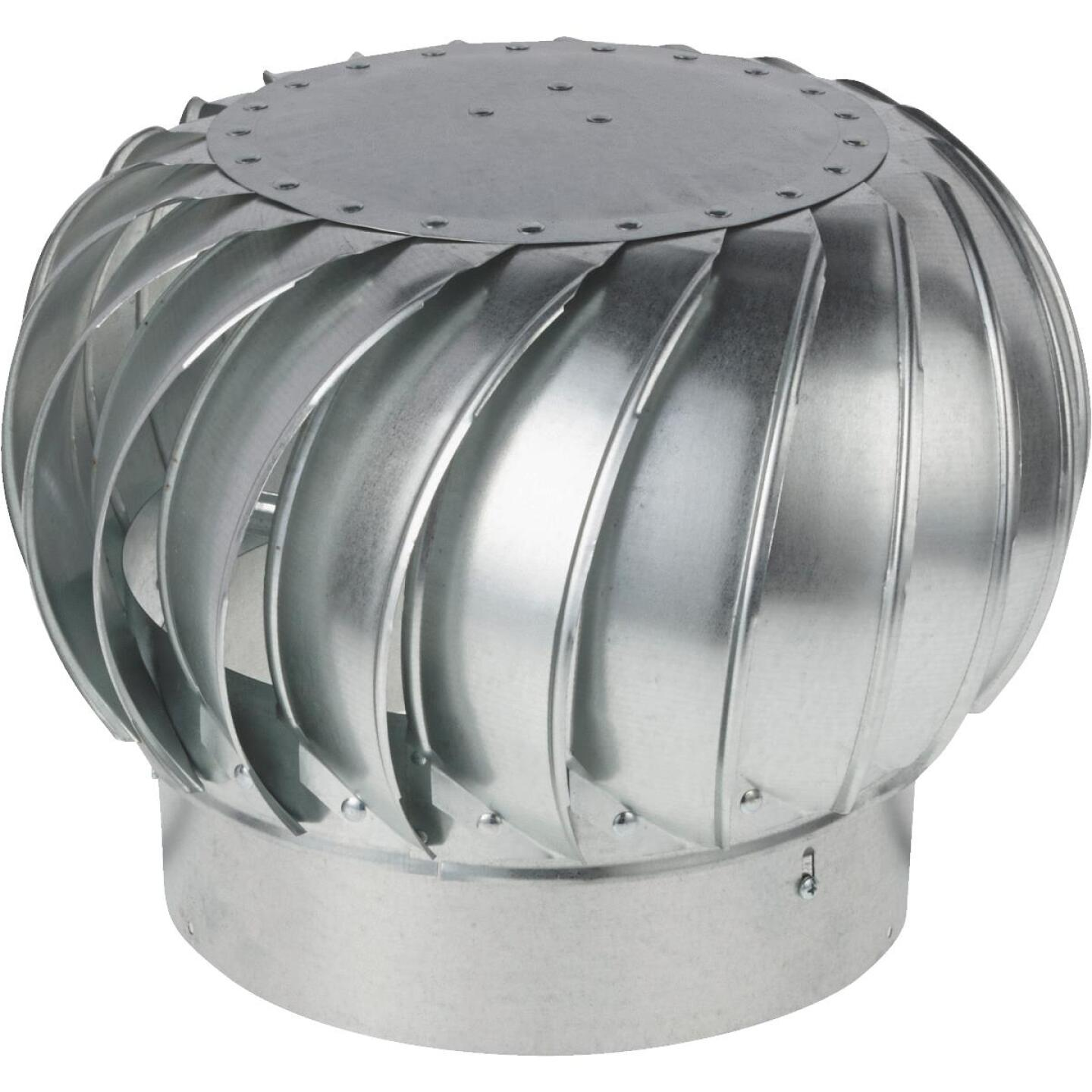 "Ventamatic Cool Attic 12"" Galvanized Steel Mill Wind Turbine Attic Vent Image 1"