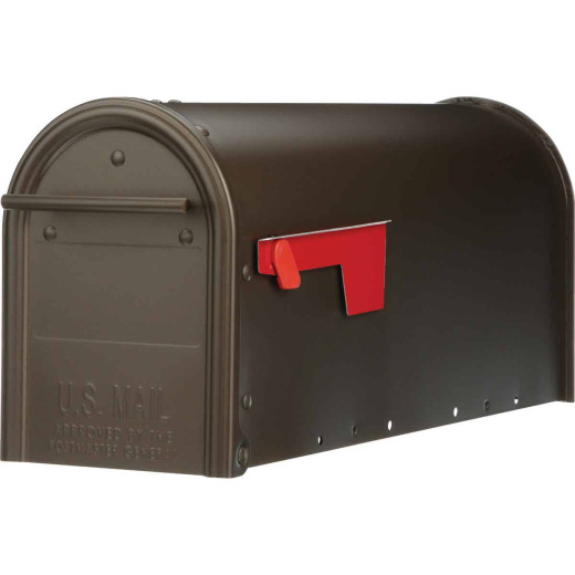 Gibraltar Franklin Venetian Bronze Steel Rural Post Mount Mailbox