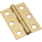 National 2-1/2 In. Brass Tight-Pin Narrow Hinge (2 Count) Image 1