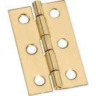 National 1-3/16 In. x 2 In. Brass Surface Mount Medium Decorative Hinge Image 1