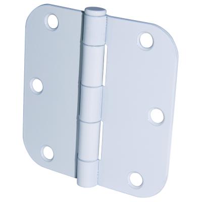 Ultra Hardware 3-1/2 In. x 5/8 In. Radius White Door Hinge (3-Pack)