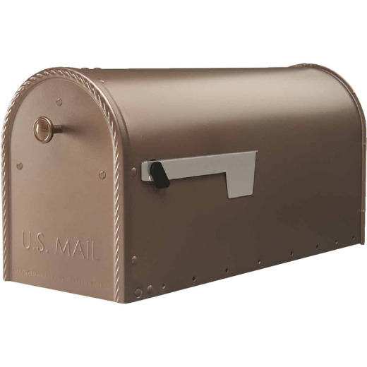 Gibraltar Edwards Venetian Bronze Steel Post Mount Mailbox