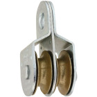 National 1-1/2 In. O.D. Double Fixed Eye Steel Rope Pulley Image 1