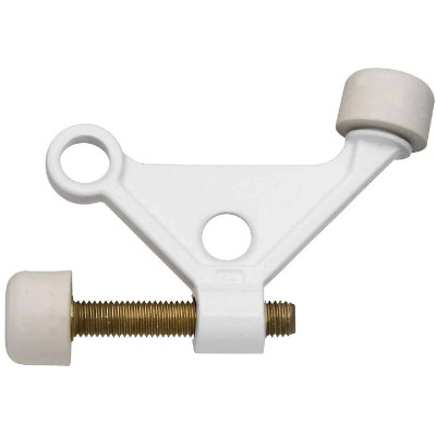 National White Zinc Hinge Pin Door Stop