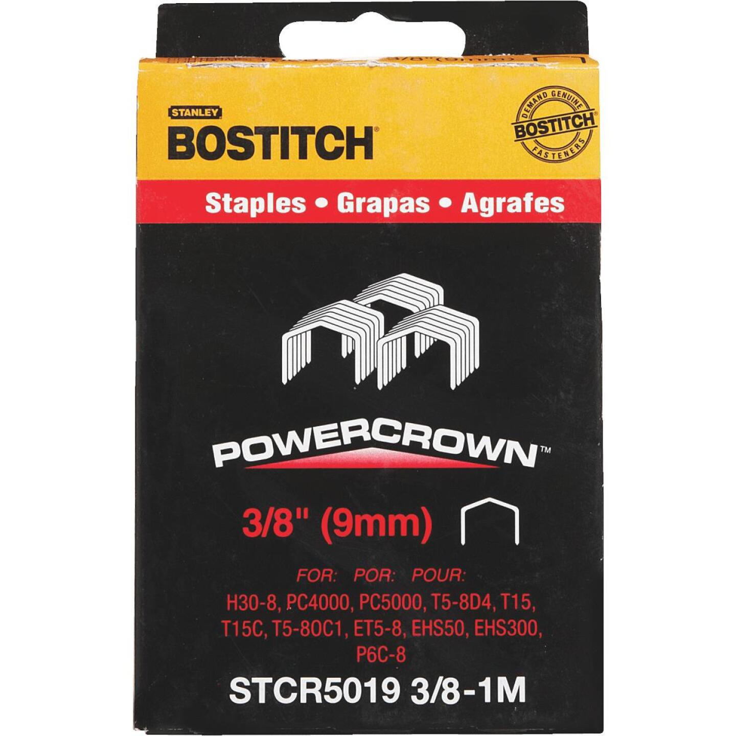Bostitch Powercrown Hammer Tacker Staple, 3/8 In. (1000-Pack) Image 2