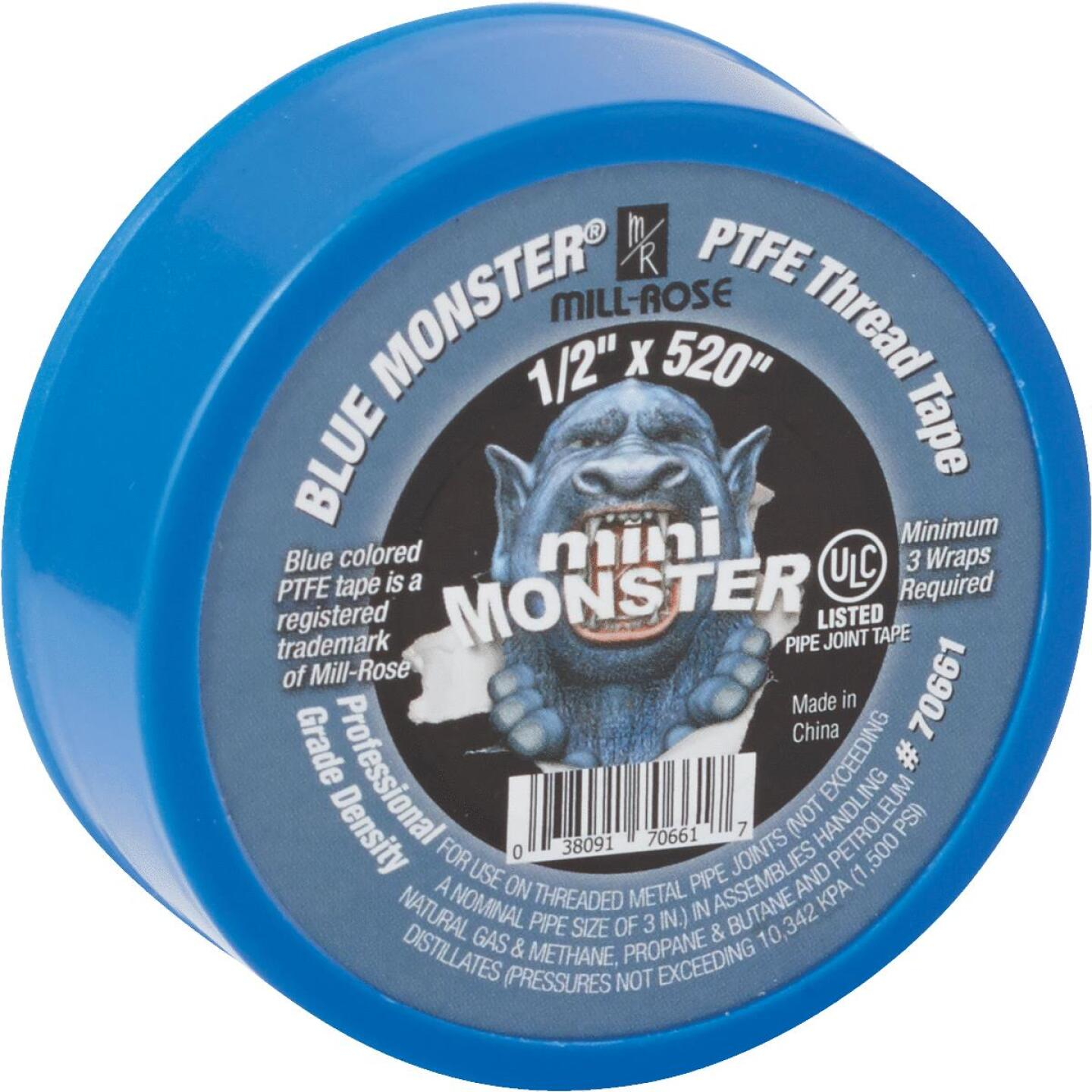 BLUE MONSTER 1/2 In. x 520 In. Blue Thread Seal Tape Image 2