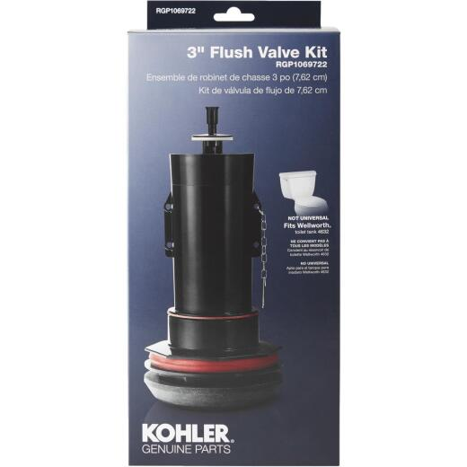 Kohler 3 In. Toilet Canister Flush Valve Repair Kit for Wellworth Toilets