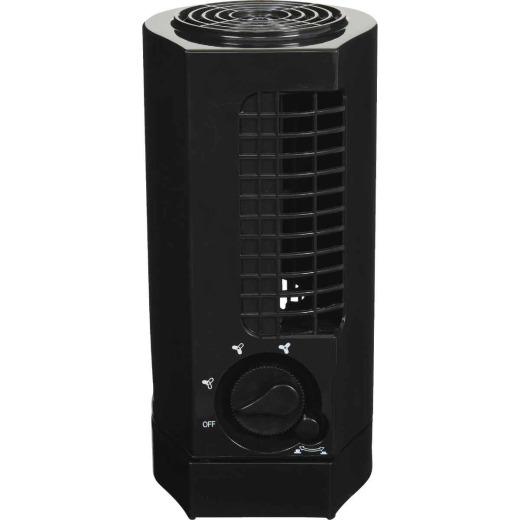 Best Comfort 10 In. 3-Speed Black Mini Tower Table Fan