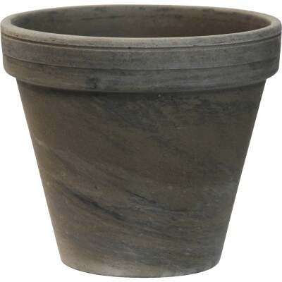 Ceramo 6-3/4 In. H. x 7-3/4 In. Dia. Dark Basalt Clay Standard Flower Pot