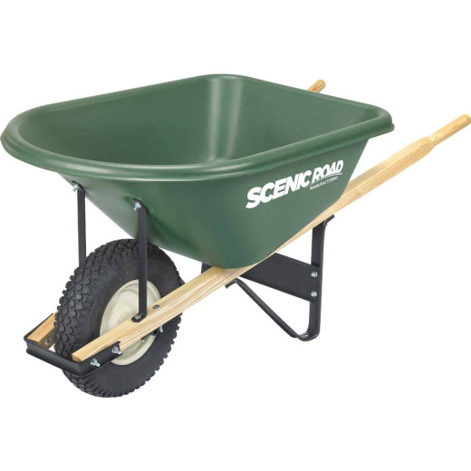 Scenic Road 6 Cu. Ft. Heavy Duty High-Density Poly Wheelbarrow