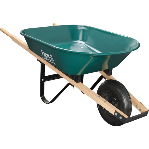 Best Garden 4 Cu. Ft. Flat Free Tire Steel Wheelbarrow