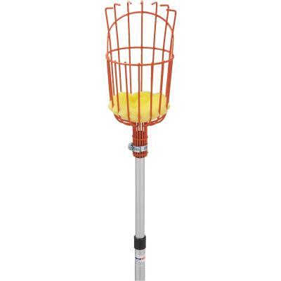 Best Garden Basket w/ Long Handle Enameled Steel Aluminum Fruit Picker