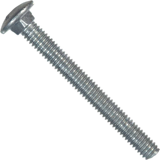 Hillman 3/8 In. x 4 In. Grade 2 Galvanized Carriage Bolt (50 Ct.)