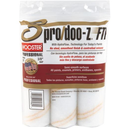 Wooster Pro/Doo-Z FTP 9 In. x 3/8 In. Woven Fabric Roller Cover (3-Pack)